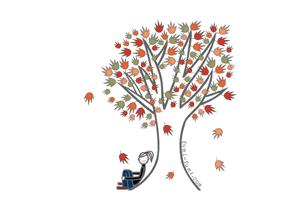 グリーティングカード画像秋のカード2