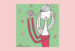 グリーティングカード画像春のカード4