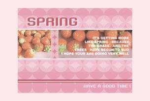 グリーティングカード画像春のカード5