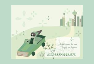 グリーティングカード画像夏のカード6